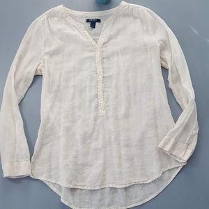 Old Navy gauzy linen blend tunic size L